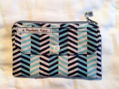 Blue Blue and White Zigzag Striped Coinpurse by APhoenixTale, $7.00