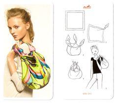 """Es una idea sencillamente perfecta: """"Cartes à nuer"""", una caja naranja-Hermès con naipes que muestran 22 maneras de lucir un pañuelo. Fueron ..."""