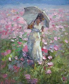 - Ufukorada: Boris Prokazov Source by Figure Painting, Painting & Drawing, Umbrella Art, Watercolor Paintings, Landscape Paintings, Impressionist Art, Beautiful Paintings, Love Art, Painting Inspiration