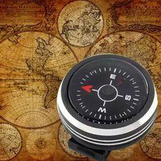 Glow In The Dark Mini Button Compass Portable Outdoor Wild Survival Navigation
