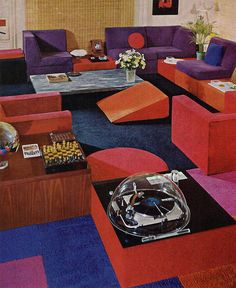 Living room design from House & Garden's Complete Guide to Interior Design, 1970