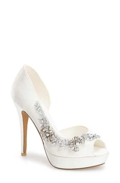 95e769b5617 Blue by Betsey Johnson Women s Shoes in Ivory Color. This bridal ...