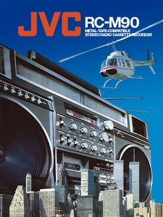 Vintage boombox ad, JVC RC-M90 | The Boombox Wiki .....................Please save this pin.   .............................. Because for vintage collectibles - Click on the following link!.. http://www.ebay.com/usr/prestige_online