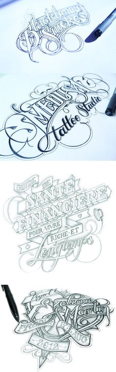 Gorgeous hand-drawn typography by Martin Schmetzer… Typography Love, Typographic Design, Typography Inspiration, Typography Letters, Graphic Design Inspiration, Hand Drawn Lettering, Creative Lettering, Types Of Lettering, Lettering Design