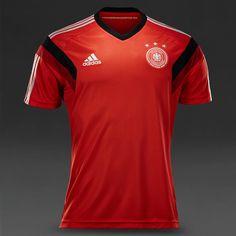 adidas DFB Germany Training Jersey SS - Poppy/Silver