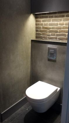 Space Saving Toilet Design for Small Bathroom Gäste WC The post Space Saving Toilet Design for Small Bathroom appeared first on Badezimmer ideen. Space Saving Toilet, Small Toilet Room, Guest Toilet, Downstairs Toilet, Wc Design, Small Room Design, Bathroom Design Small, Villa Design, Design Hotel