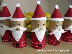 Some funny Christmas decoration Christmas Gift You Can Make, Christmas Arts And Crafts, Santa Crafts, Christmas Makes, Kids Christmas, Handmade Christmas, Holiday Crafts, Christmas Ornaments, Funny Christmas Decorations