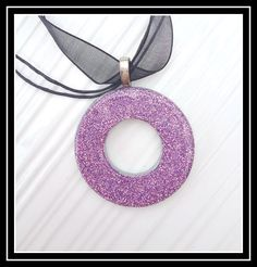 Mellywood's Mansion: Glitter Washer Necklaces
