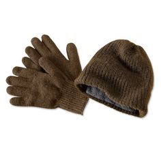 Made in America, Made in USA.  Mens Wool Hat and Gloves - Genuine American Bison Wool Cap and Gloves -- Orvis on Orvis.com!