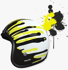 Inspired by the city - helmet painting meets street style. First open face…