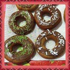 Donuts alla cannella e cioccolato