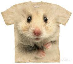 Cute hamster face t-shirt