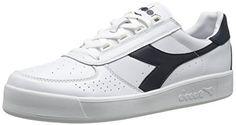 Diadora B. Elite Tennis Shoe,White/Blue Denim/Blue Denim,10.5 M US * Click on the image for additional details.