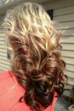 I want this but inverted with blonde on the bottom and the brown on top.