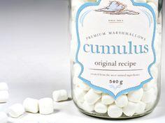 cumulus marshmallow packaging. looove!