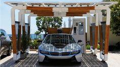 BMW Solar Car Port for i8 and i3 | wordlessTech