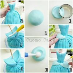 """Cinderella complete pictorial"" #1: N°1/33: the Dress - CakesDecor"