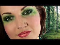 Tinkerbell Makeup for Halloween (+playlist) Youtube Halloween, Halloween Tutorial, I Love Makeup, Eye Makeup, Tinkerbell Makeup, Julia Graf, Jigsaw Makeup, Full Makeup Tutorial, Peter Pan Costumes