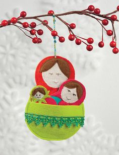 Matryoshka Love Tree Ornament by Martingale | That Patchwork Place, via Flickr