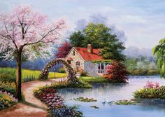 Ks Games Puzzle 1000 Parça Lake House Jack Stansfield