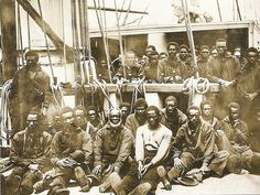 Contraband' aboard the USS Vermont (1862), 'Contraband' is the name the government labeled escaped slaves.