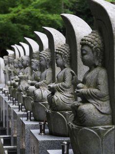 Line of #stone #buddha statue.