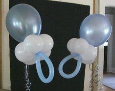 más y más manualidades: Bellas decoraciones con globos para baby shower