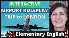 Is your English very beginner level? Then take part in this interactive video in which you should speak, answering any questions, at the same time learning new expressions & vocabulary: AIRPORT ROLEPLAY | INTERACTIVE | TRIP to LONDON | English for Travel | Beginner Speak English Fluently, London Travel, Vocabulary, Language, Mom, Learning, Youtube, Studying, Languages