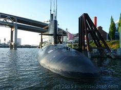 The USS Blueblack SS-581 at the Oregon Museum of Science and Industry that was used for the outside shots in the move The Hunt for Red October as well as various tv shows.