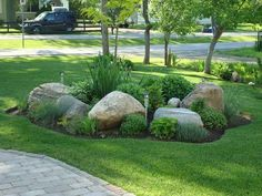 AMAZING LARGE YARD LANDSCAPING IDEAS - Landscaping your front yard can add curb appeal, a sense of invitation, increases the value of the property and acts as framing for your house. Landscaping With Rocks, Front Yard Landscaping, Backyard Landscaping, Landscaping Ideas, Backyard Ideas, Landscaping Software, Landscape Plans, Landscape Design, Garden Design