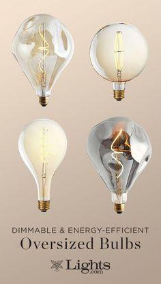 E27 Dimmbare BIG FAMILY GOLD Filament LED Lampen Rustika Vintage Retro Edison