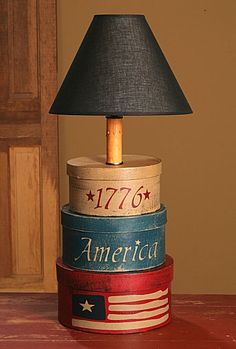 Use the star shaped cardboard boxes? Country & Cottage Lamps Country Decor | Country Cottage Decor