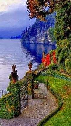 Amazing view of Lake Como , located in in Lombardy region of Italy . One of the must visit place in this region