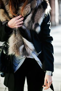 furry warm layers.