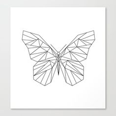 Butterfly Canvas, Butterfly Drawing, Geometric Tattoo Butterfly, Butterfly Line Art, Canvas Art, Canvas Prints, Art Prints, Mini Tattoos, Wire Art