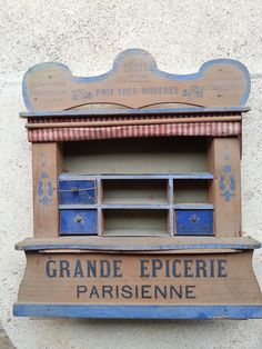 ANCIENNE EPICERIE PARISIENNE jouet en bois vers 1900 old french toy