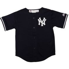 Toddler Majestic Derek Jeter Navy Blue New York Yankees 2015 Cool Base Player Jersey featuring polyvore baby clothing kids clothes tops