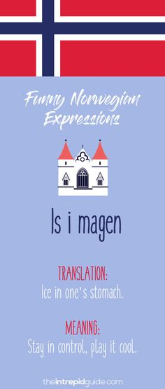 Norwegian Sayings and Idioms - Is i magen