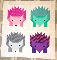 Hazel Hedgehog II Child's Quilt