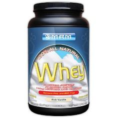 MRM 100% All Natural Whey. Chose this one instead, adding stevia and vanilla would have made the Now about the same. Like the profile on this one a lot. Very similar to my favorite from Earthfare but 35% cheaper. As cheap as Optimum without the fructose or sugar.