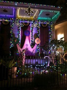 Mardi Gras Decorated House On Our Way Back From Day