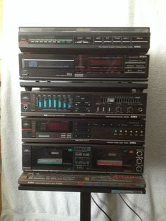 Aiwa 3 Cd Changer Duel Cassette Stereo With Remote Cx