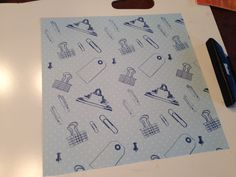 """Stamping on a subtle Swiss dot paper with Fiskars """"Hip Clips"""""""