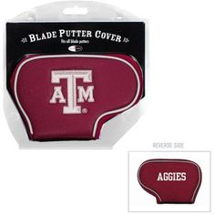 Team Golf Ncaa Texas A And M Golf Blade Putter Cover, Red