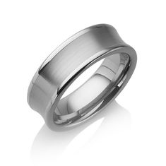 "Tungstino Ring ""Concave brushed"" Wolframcarbid"