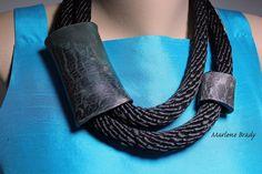 Marlene Brady: Hardware Store Jewelry -  rope & polymer clay necklace