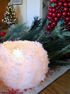 "Snowball"" Votive Candle Holders DIY"