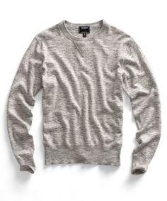 Heather Grey Crew Sweater | Todd Snyder