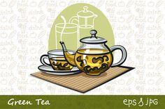 Green Tea Illustrations by Oleg Tokarev Art on Creative Market