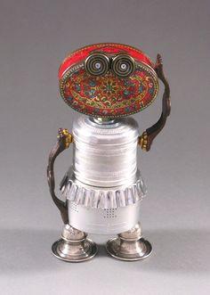 ROBOT SCULPTURE - Metal art sculpture Junk metal art - Betty B Bot